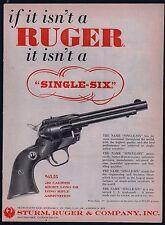 1958 Ruger Single-Six .22 Revolver Ad original price Vintage Advertising