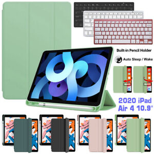 """For iPad 8th 10.2"""" Air 10.5"""" 10.9""""  5/6th 9.7"""" Bluetooth Keyboard Leather Case"""