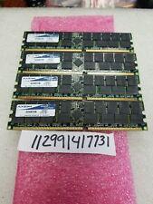 8GB KIT 4X 2GB DDR1 DDR PC PC3200R DDR-400  3200 184PIN ECC-REG RDIMM 128X4 2RX4