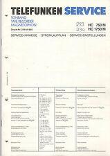 Telefunken Service Manual Schaltplan  HC 750 M HC 1750 M   B1414