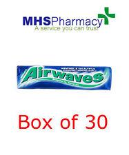 Wrigley's 30 Packets Chewing Gum AIRWAVES Sugar Free Wrigleys Packs