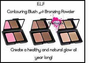 ELF E.L.F Contouring Blush & Bronzing Powder Blusher Bronzer Pressed Powder Duo