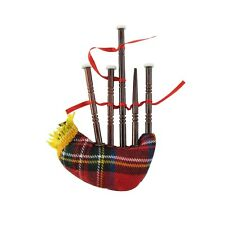 Miniature Bag Pipe Musical Instrument Realistic Ornament Bagpipe Gift Topper/Box