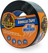 More details for gorilla 48mm x 11m extreme all weather tape black wet surfaces 100% waterproof