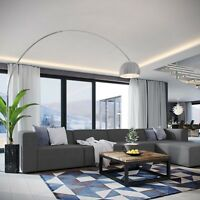 Contemporary Modern Upholstered Fabric 5PC Sectional Sofa Set in Gray