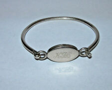 Sterling SIlver Monogrammed Bracelet Exc. Condition