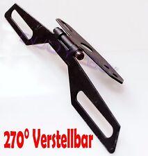 Universal Kennzeichenhalter Nummernschildhalter Motorrad Quad Roller Verstellbar