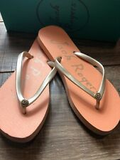 Jack Rogers Tessa Blush/Platinum New In Box Size 9