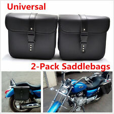 2x Mini Universal Motorcycle Saddlebags PU Leather Side Storage Bags Tool Pouch