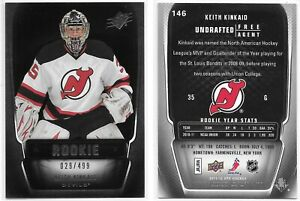 11/12 SPx: Keith Kinkaid Rookie Card #'d 29/499 (#146) !