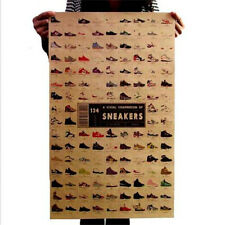 FD3197 A Visual Compendium Of Sneakers Craft Paper POSTER Map Wall Print 51CM