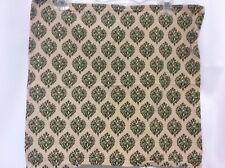 "Napkins cloth set of 4 tan olive green 17"" square floral scroll design spade loo"