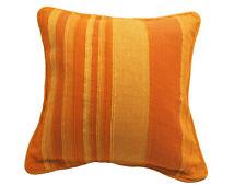 Funda de cojín, cojín, Funda de cojín, Kerala orange-gestreift