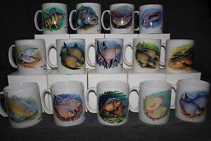 11oz Fish Print Mugs By Renowned Fish Artist Chris Turnbull