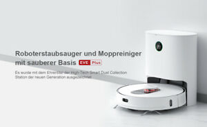 Roidmi EVE Plus Vacuum Robot Cleaning mit3L Cleaner Bag App Control Eu