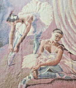 """Goodwin Weavers """"Ballerina Scene"""" Tapestry Throw Blanket 64x48 BEST OFFER🩰💃"""