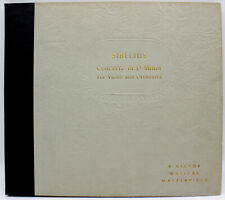 [EX 4 LP BOX SET] SIBELIUS - Concerto in D Minor Op. 47, Victor Set # M-309