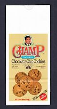 VERY VERY RARE Muhammad Ali CHOCOLATE CHIP COOKIE BAG Cassius Clay boxing boxer