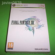 FINAL FANTASY XIII EDICIÓN COLECCIONISTA PAL ESPAÑA NUEVO PRECINTADO XBOX 360