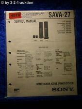 Sony Service Manual SAVA 27 Active Speaker System (#4578)