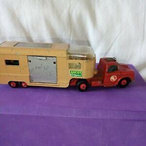 Matchbox KING Size K-18 DODGE Truck & HORSE Transport Trailer w/ Dark Grey Box's