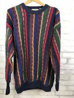 Vintage 90's Cotton Traders Coogi Style Hip Hop 3D Textured Sweater Men's Large