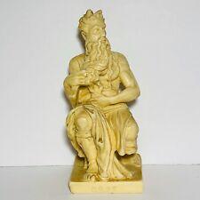 Vintage Michelangelo's Horned Moses Sculpture Statue Italy T.L Pat