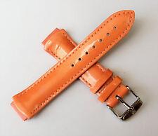 TechnoMarine Genuine Leather Watch Strap 17MM Shiny Salmon - 1020 NEW!