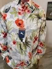 TOMMY BAHAMA MEN'S CAMP SHIRT BEIGE MONACO COSTA LINEN NWT/L