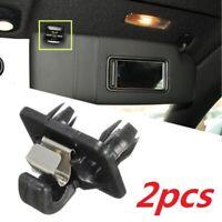 Pair Auto Interior Sun Visor Clip Holder Hook For Audi A1 A3 A4 A5 Q3 Q5 TT Car