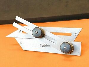 L.S. STARRETT No. 49 COMBINATION  BEVEL WITH 30, 45, and 60 DEGREE ANGLES. USA.