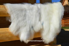 Icelandic White Genuine Sheepskin Lambskin Sheep skin rug pelt long wool