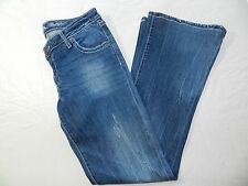 WOMENS JEANS = WRANGLER = SIZE 5 X 34 rock 47 ultra low rise flare - ss25