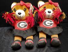 2 University Georgia Bulldogs College Cheerleader Bears 11� (Gametime Plush)