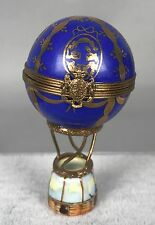 Limoges Trinket Box - Antique French Hot Air Balloon - Hand Painted Signed 402