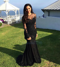 Mermaid Formal Party Evening Cocktail Ball Wedding Bridesmaid Prom Gown Dress