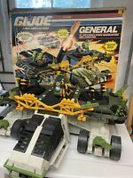 Gi Joe ARAH The General Vehicle Near Complete With Box Major Storm Locust