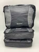 Gonex Packing Cubes 3 Set(M) Laundry Bag Luggage Travel Organizers, Black