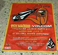 TOY Machine Volcom thick canvas vinyl banner skateboard surf poster sign cap 13a