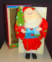 "NIB Cracker Barrel Peace Love & Presents 19"" Polka Dot Santa Figure Christmas"