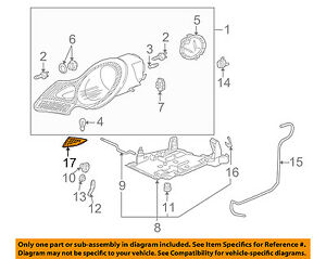 PORSCHE OEM 97-02 Boxster Headlight Head Light Lamp-Lower Trim Left 99663103500