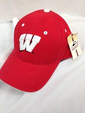 Wisconsin Badgers Baseball Hat - Adult Cap - Nwt Hmi Branding