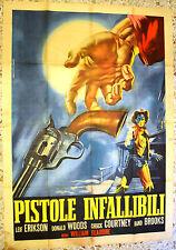 MANIFESTO ORIGINALE PISTOLE INFALLIBILI 65 Born to the Saddle DONALD WOODS