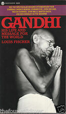 Gandhi  His Life and Message 1982 Louis Fischer Vintage Uncracked Paperback