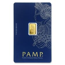 Pamp Suisse Fortuna 1 g GRAM Fine Gold Bar Bullion 999.9 - Free p&p