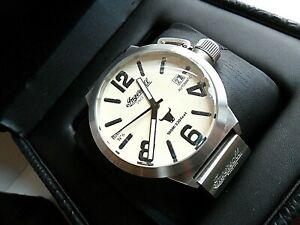 LN 52 mm S/S Men's Ingersoll Bison No. 6 25 Jewel Automatic Swiss Watch w/ Box