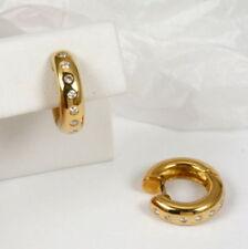 Orecchini con diamanti oro gialli colore fantasia , Purezza metallo 18 Carati