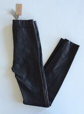 $625 NWT Jcrew Collection Women's 0 Leather Leggings Pants Black XS 09610 Glam