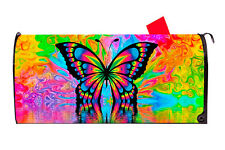 Psychedelic Butterfly Magnetic Mailbox Cover Excellent Quality Made in the Usa