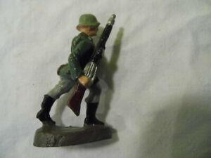 Lineol Elastolin Schusso Hauser Soldat Wehrmacht MG Schütze 7cm Massesoldat